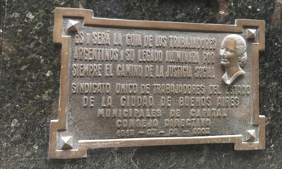 Mensagens em homenagem à Evita Perón