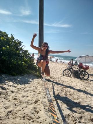 Slackline praia
